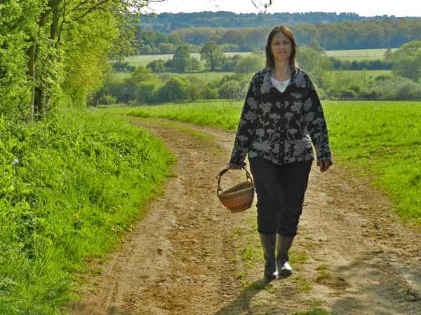 Anne walking