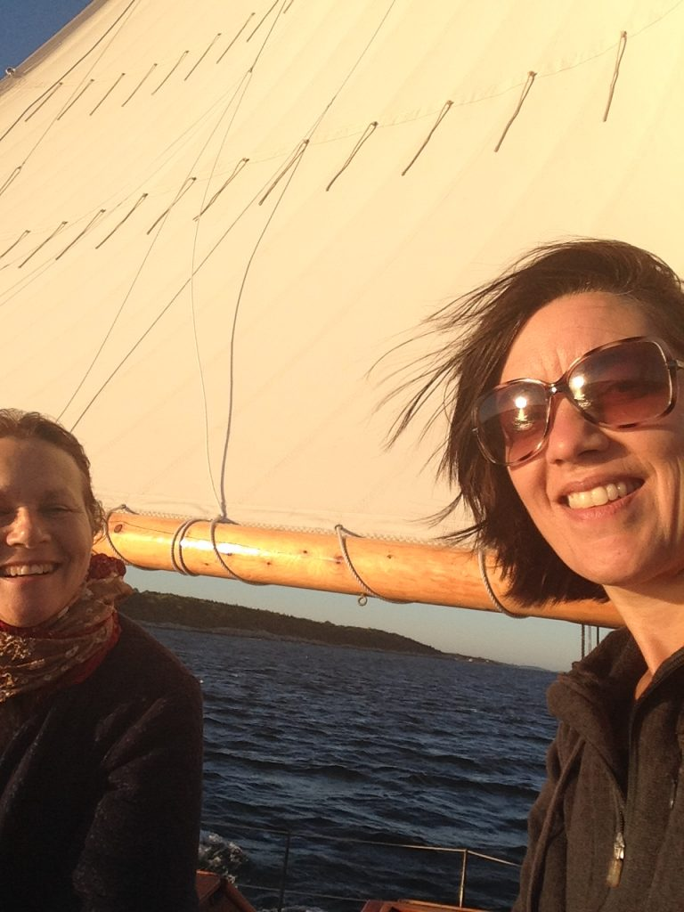 Anne and Gina on the Maine Coast